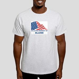 Loving Memory of Blaine Ash Grey T-Shirt