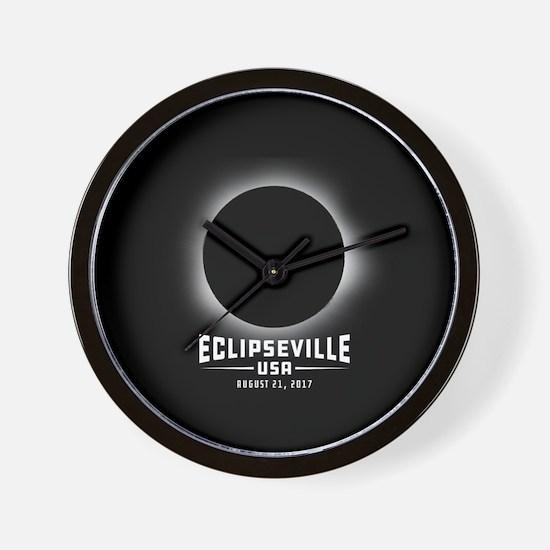 Eclipseville USA Wall Clock
