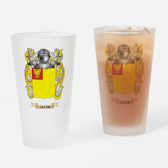 Jacob Coat of Arms (Family Crest) Drinking Glass