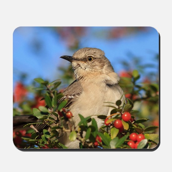 Mockingbird & Yaupon Berries Mousepad