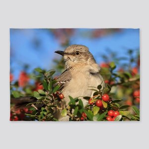 Mockingbird & Yaupon Berries 5'x7'Area Rug