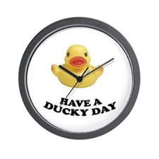 Have A Ducky Day Wall Clock