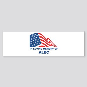 Loving Memory of Alec Bumper Sticker