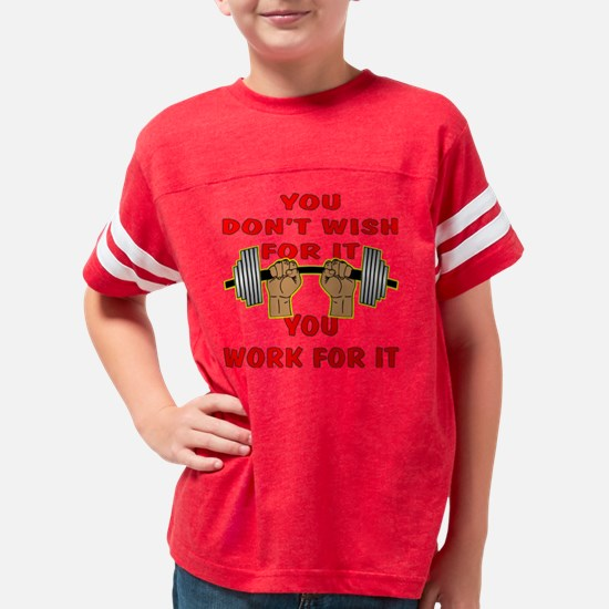 blk_bb_wish_work_for_it Youth Football Shirt