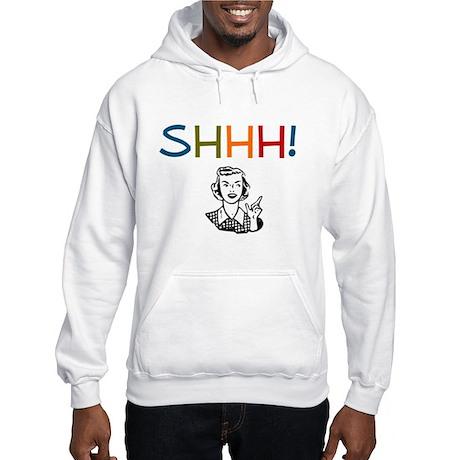 Shhh! Retro Librarian Hooded Sweatshirt