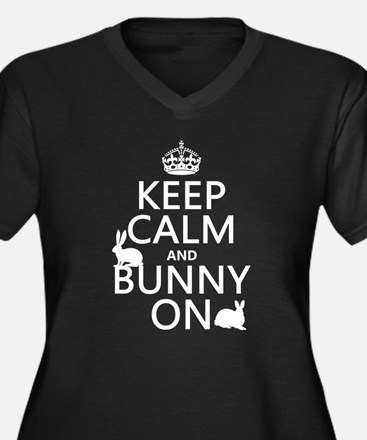 Keep Calm and Bunny On Plus Size T-Shirt