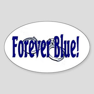 Forever Blue Oval Sticker