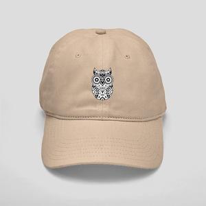 Sugar Skull Owl Cap