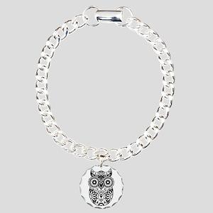 Sugar Skull Owl Charm Bracelet, One Charm
