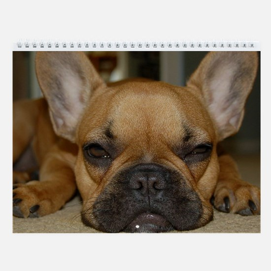 French Bulldog Calendar Wall Calendar