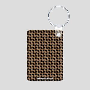 Houndstooth Khaki Keychains