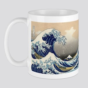 Tsunami_by_hokusai_19th_century Mugs