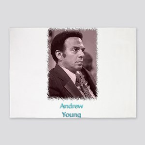 Andrew Young w text 5'x7'Area Rug
