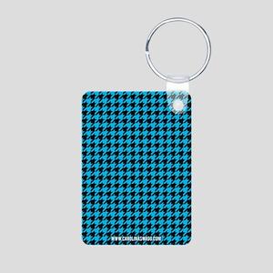 Houndstooth Blue Keychains