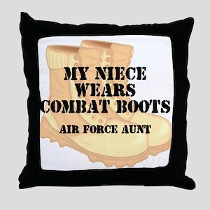 AF Aunt Niece DCB Throw Pillow