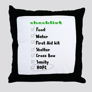 Checklist Throw Pillow