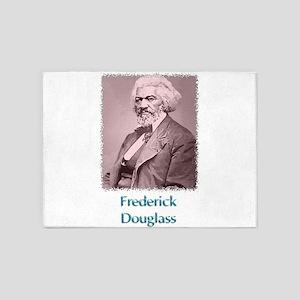 Frederick Douglass w text 5'x7'Area Rug