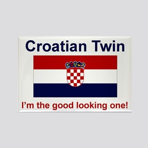 Good Looking Croatian Twin Rectangle Magnet