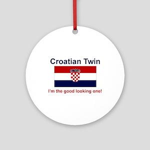 Good Looking Croatian Twin Keepsake Ornament