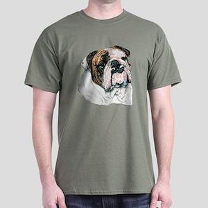 English Bulldog Dark Colored T-Shirt