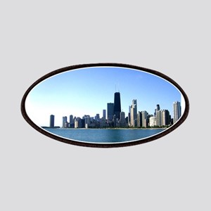 Chicago Skyline Across from Lake Michigan Patches