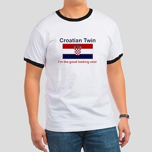 Good Looking Croatian Twin BLUE Ringer T