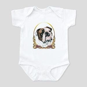Bulldog Christmas/Holiday Infant Bodysuit