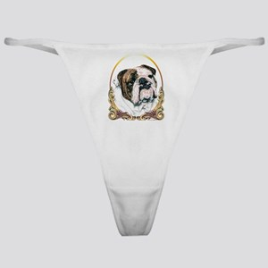 Bulldog Christmas/Holiday Classic Thong
