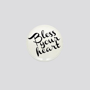 Bless Your Heart (in black) Mini Button