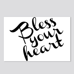 Bless Your Heart (in black) Postcards (Package of
