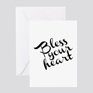 Bless Your Heart (in black) Greeting Card