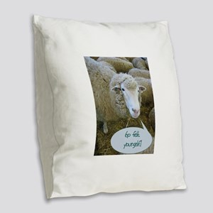 gofelt Burlap Throw Pillow