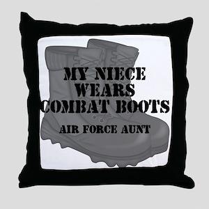 AF Aunt Niece CB Throw Pillow