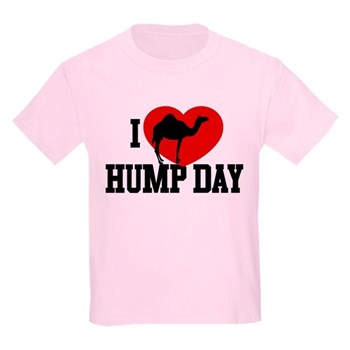I Heart Hump Day Kids Light T-Shirt