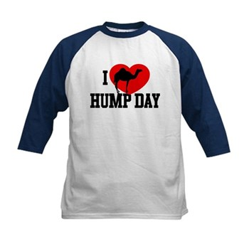 I Heart Hump Day Kids Baseball Jersey