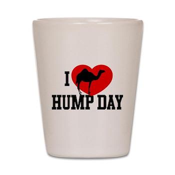 I Heart Hump Day Shot Glass