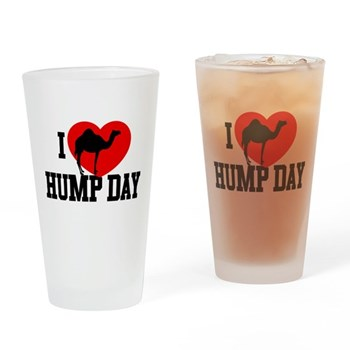 I Heart Hump Day Drinking Glass