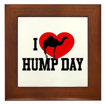 I Heart Hump Day Framed Tile