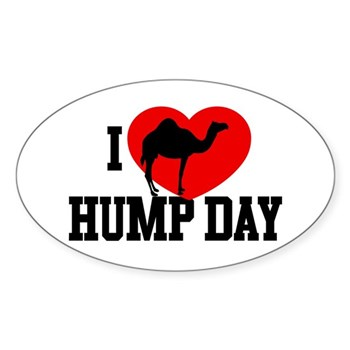 I Heart Hump Day Oval Sticker (10 pack)
