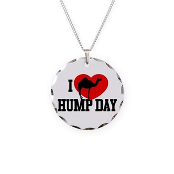 I Heart Hump Day Necklace Circle Charm