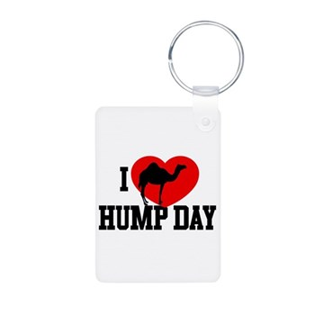 I Heart Hump Day Aluminum Photo Keychain