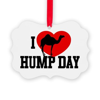 I Heart Hump Day Picture Ornament