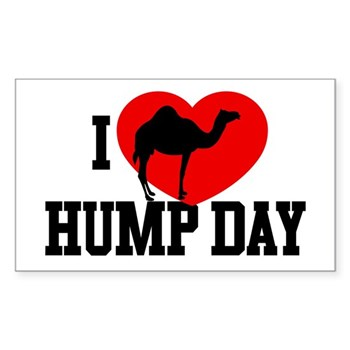 I Heart Hump Day Rectangle Sticker