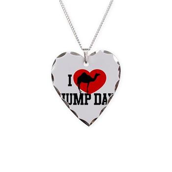 I Heart Hump Day Necklace Heart Charm