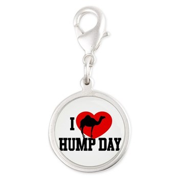 I Heart Hump Day Silver Round Charm