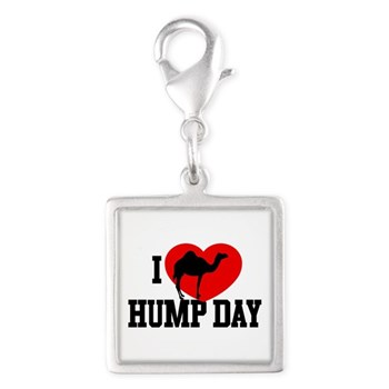 I Heart Hump Day Silver Square Charm