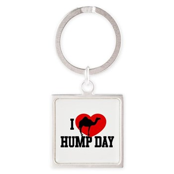 I Heart Hump Day Square Keychain