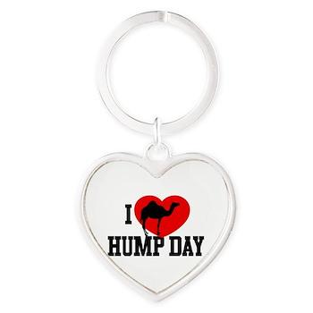 I Heart Hump Day Heart Keychain