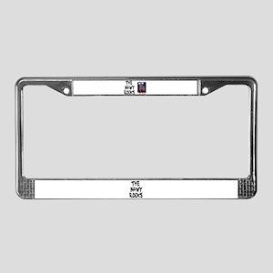 NAVY ROCKS/I LOVE THE NAVY License Plate Frame
