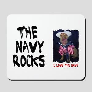NAVY ROCKS/I LOVE THE NAVY Mousepad
